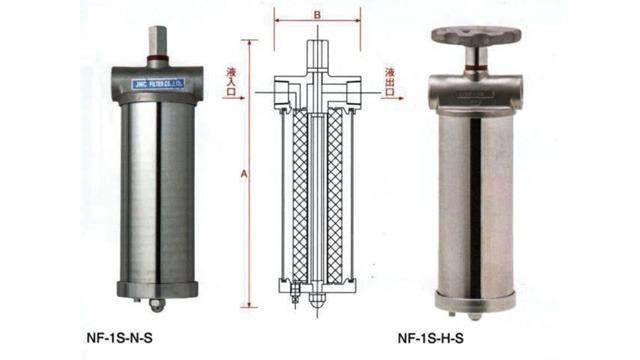 JNC单芯不锈钢过滤器(NF-1S-N-S、NF-1S-H-S)